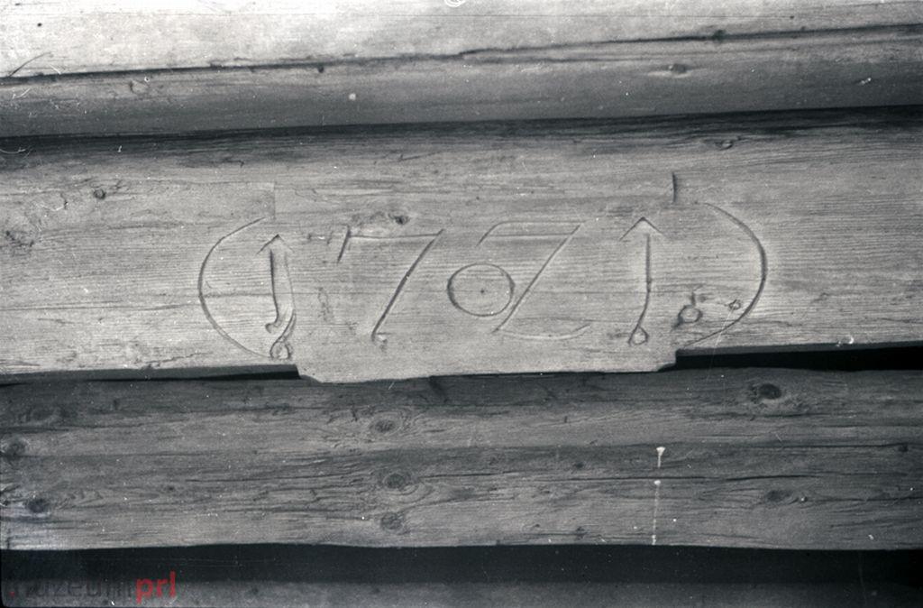 wizerunek  Istebna. Fragment tragarza w starej chałupie.