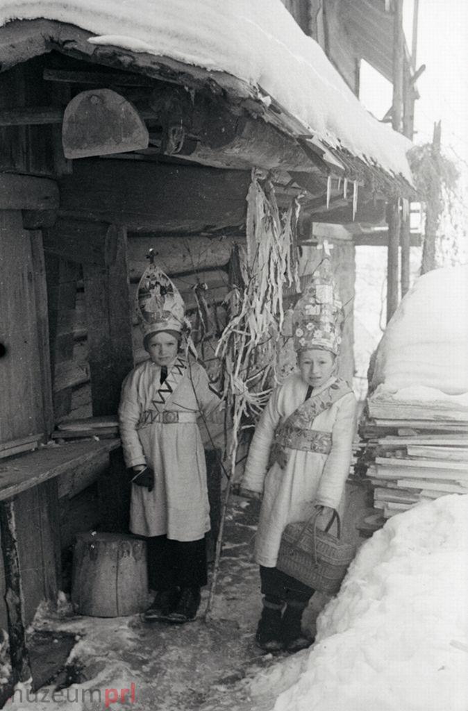 wizerunek  Istebna. Kolędnicy pastuszkowie.