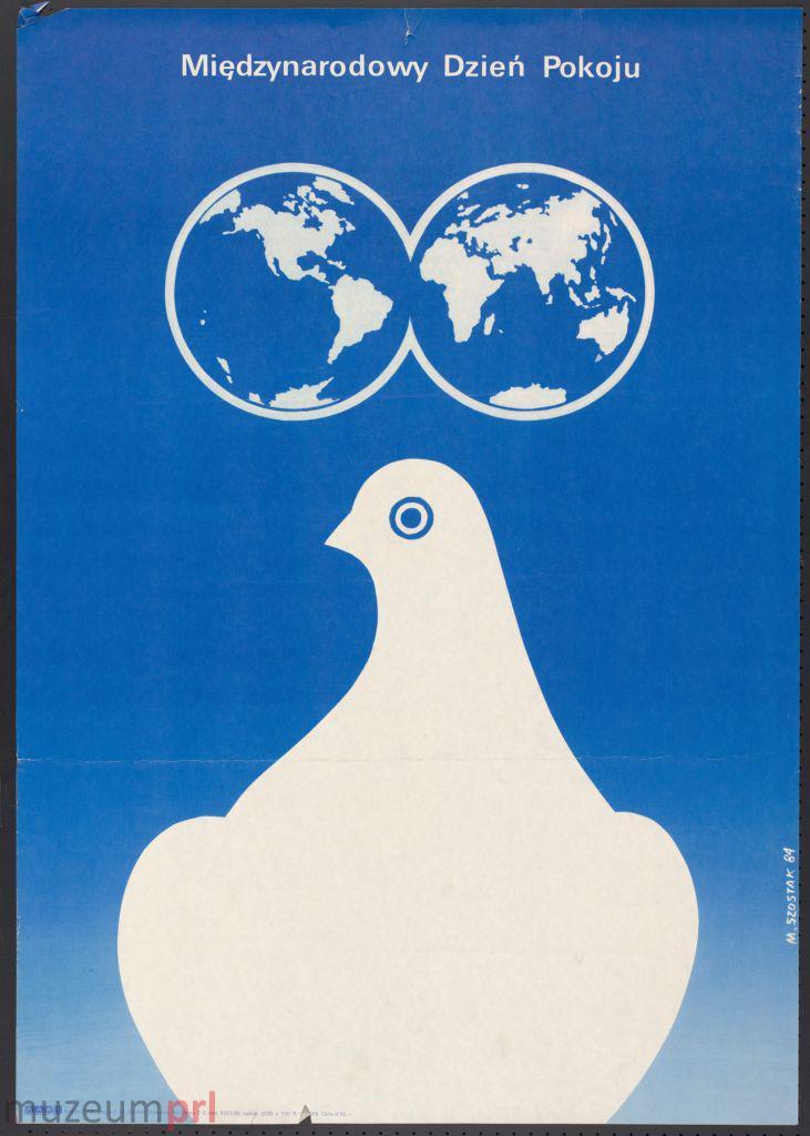 """wizerunek  """"Międzynarodowy Dzień Pokoju"""" – plakat propagandowy"""