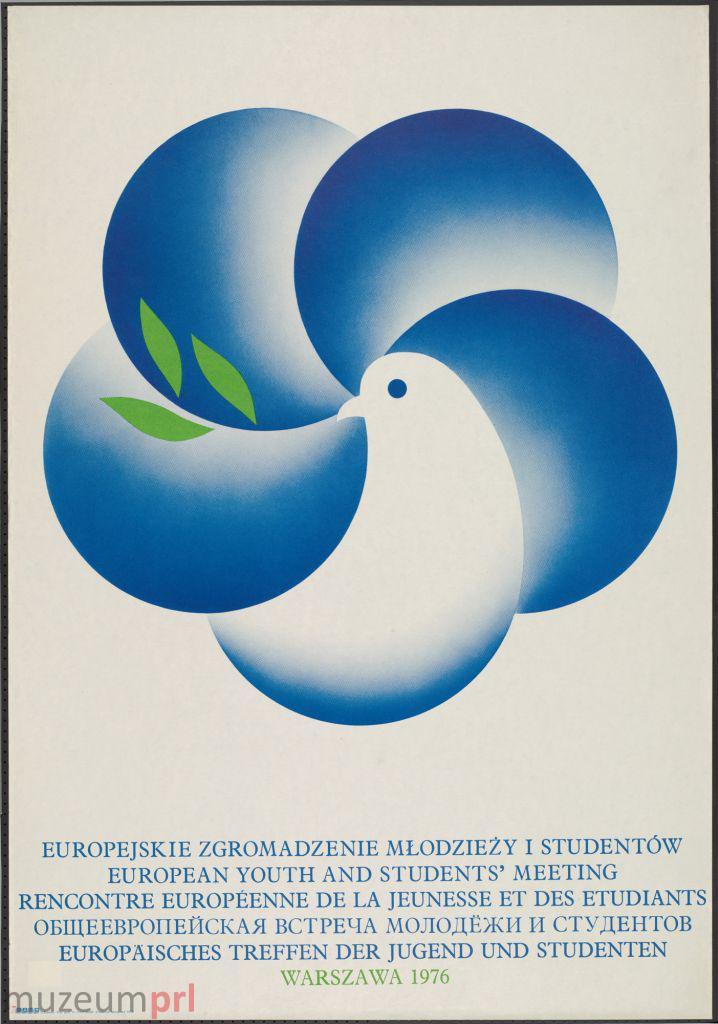 """wizerunek  """"Europejskie Zgromadzenie Młodzieży i Studentów – Warszawa 1976"""" – plakat propagandowy"""