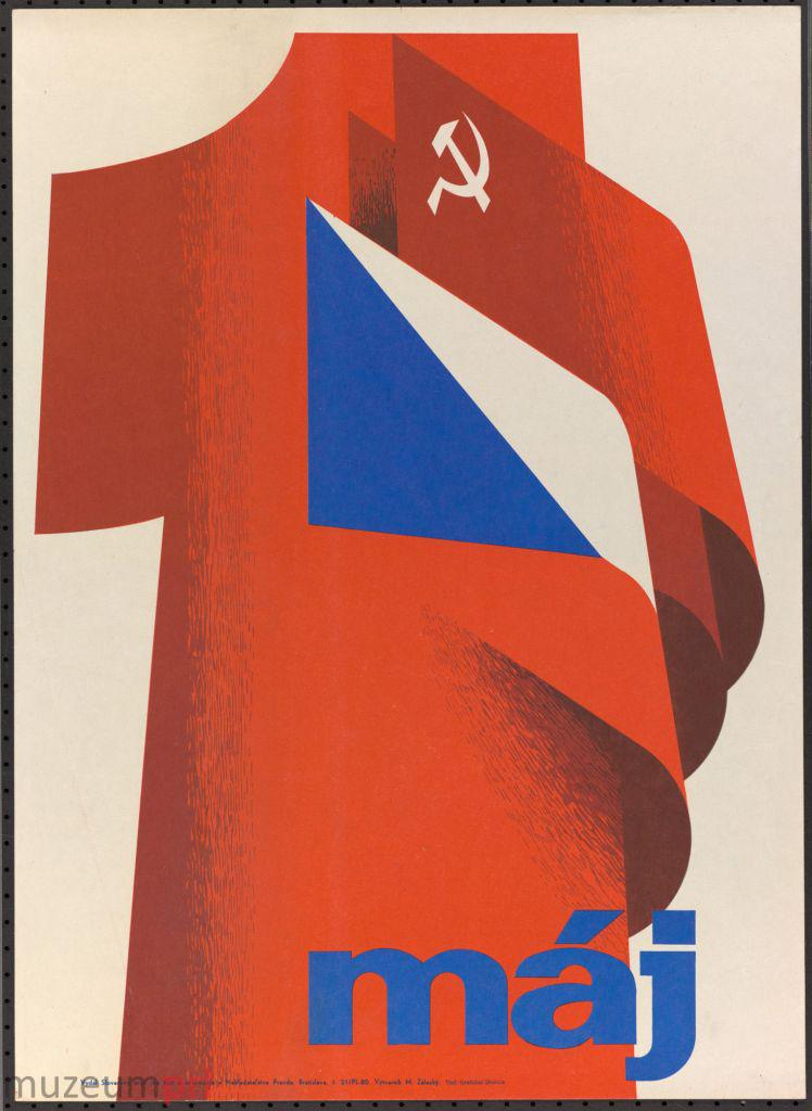"""wizerunek  """"1 máj"""" – plakat propagandowy"""