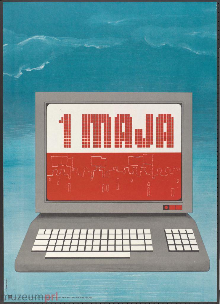 "wizerunek  ""1 MAJA"" – plakat propagandowy"