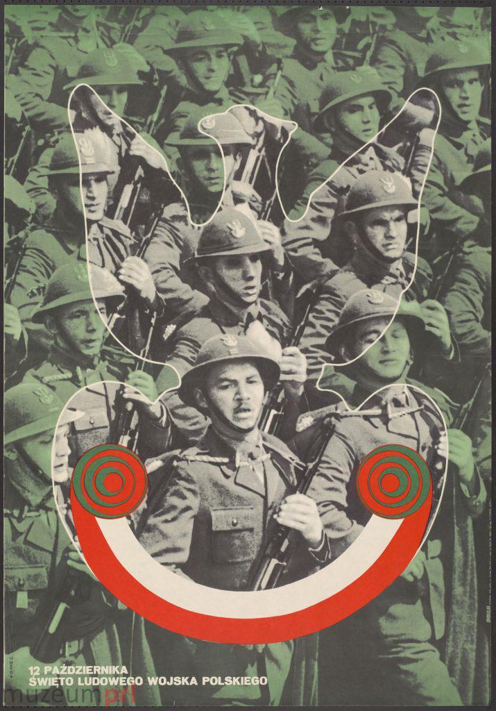 """wizerunek  """"12 października – Święto Ludowego Wojska Polskiego"""" – plakat propagandowy"""