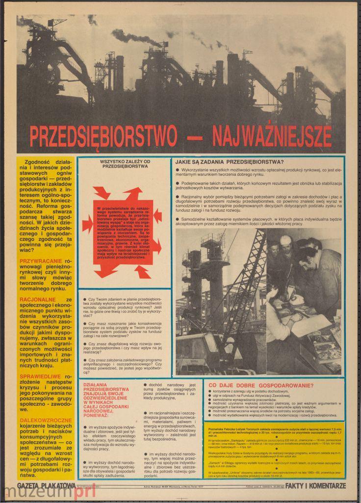 """wizerunek  """"Przedsiębiorstwo – najważniejsze"""" – gazeta plakatowa"""