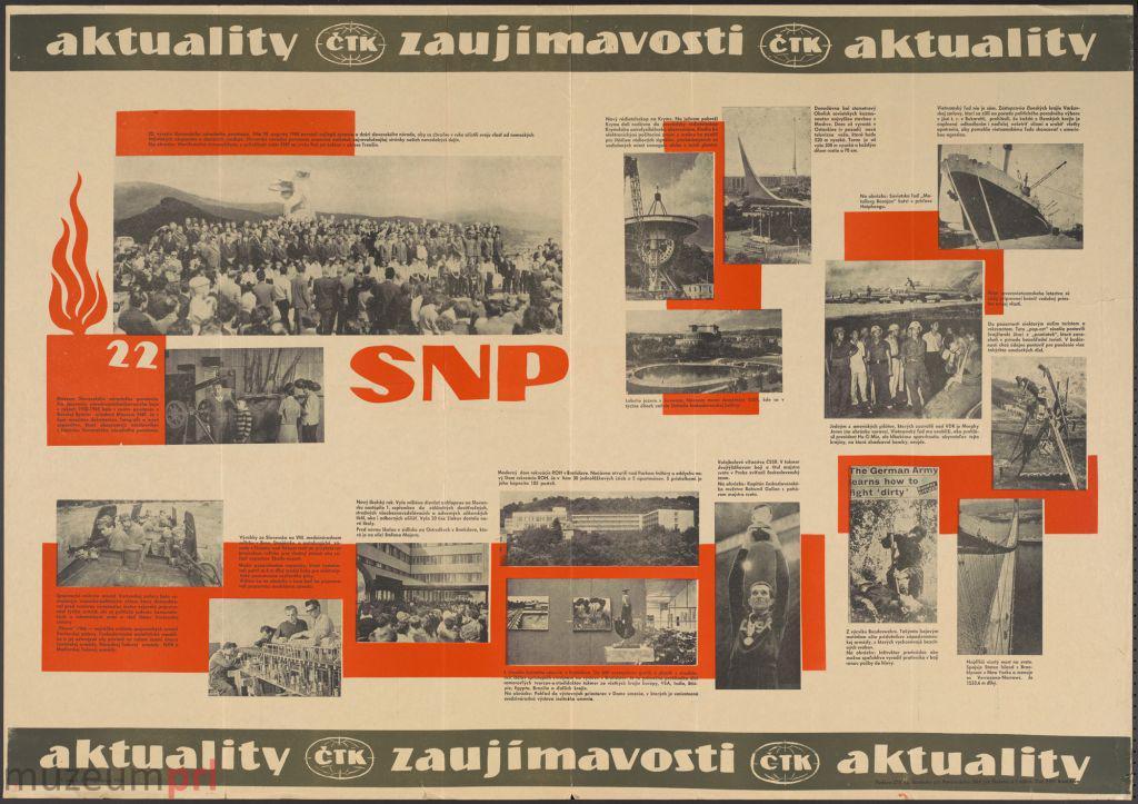 """wizerunek  """"Aktuality, Zaujímavosti, Aktuality"""" – gazeta plakatowa"""