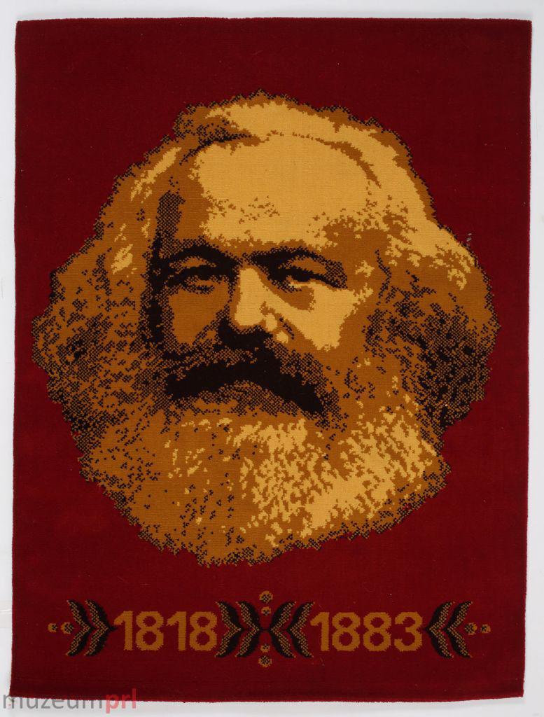 wizerunek  Dywan z podobizną Karola Marksa