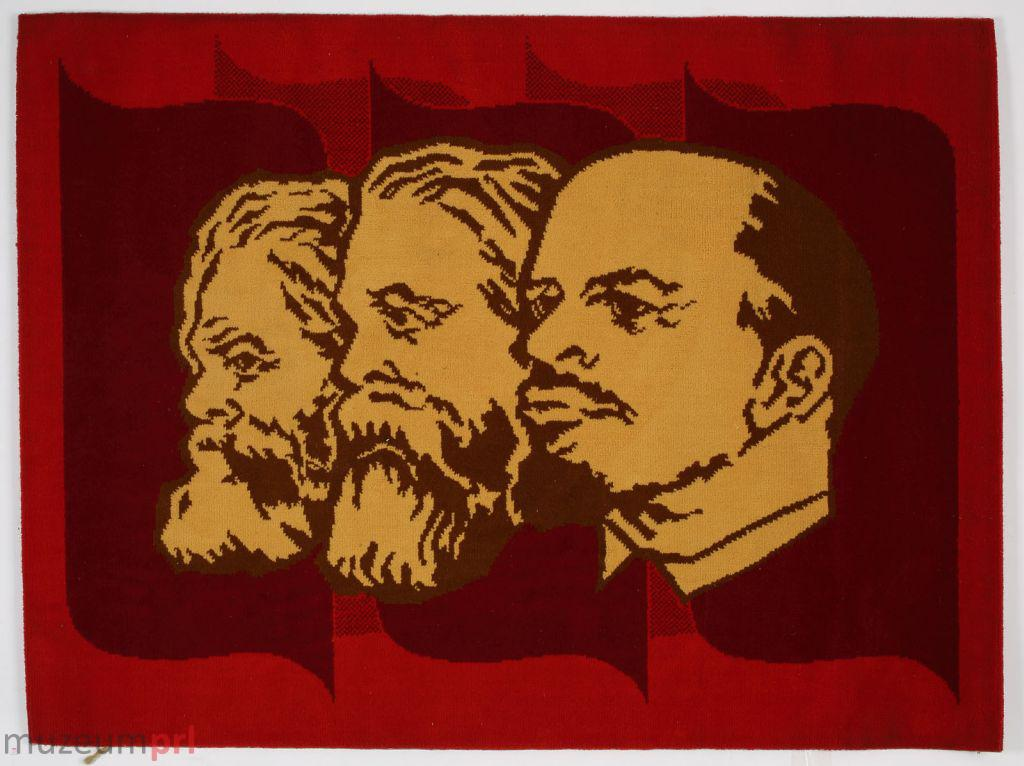 wizerunek  Dywan z podobiznami Marksa, Engelsa i Lenina