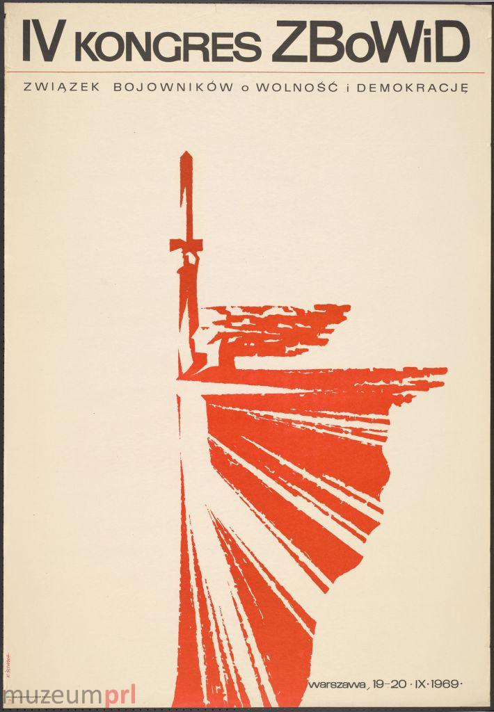 wizerunek  IV Kongres ZBoWiD – plakat propagandowy