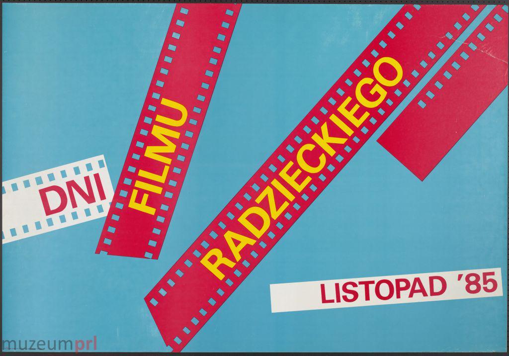 """wizerunek  """"Dni Filmu Radzieckiego – listopad '85"""" – plakat"""