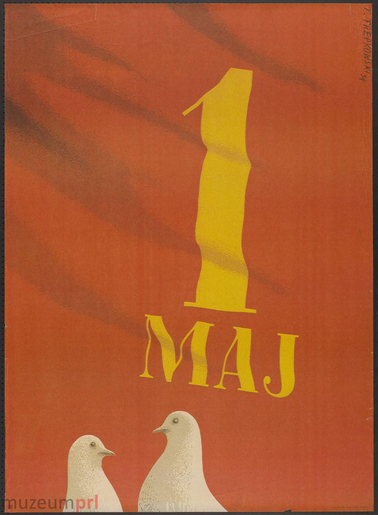 "wizerunek  ""1 Maj"" – plakat"
